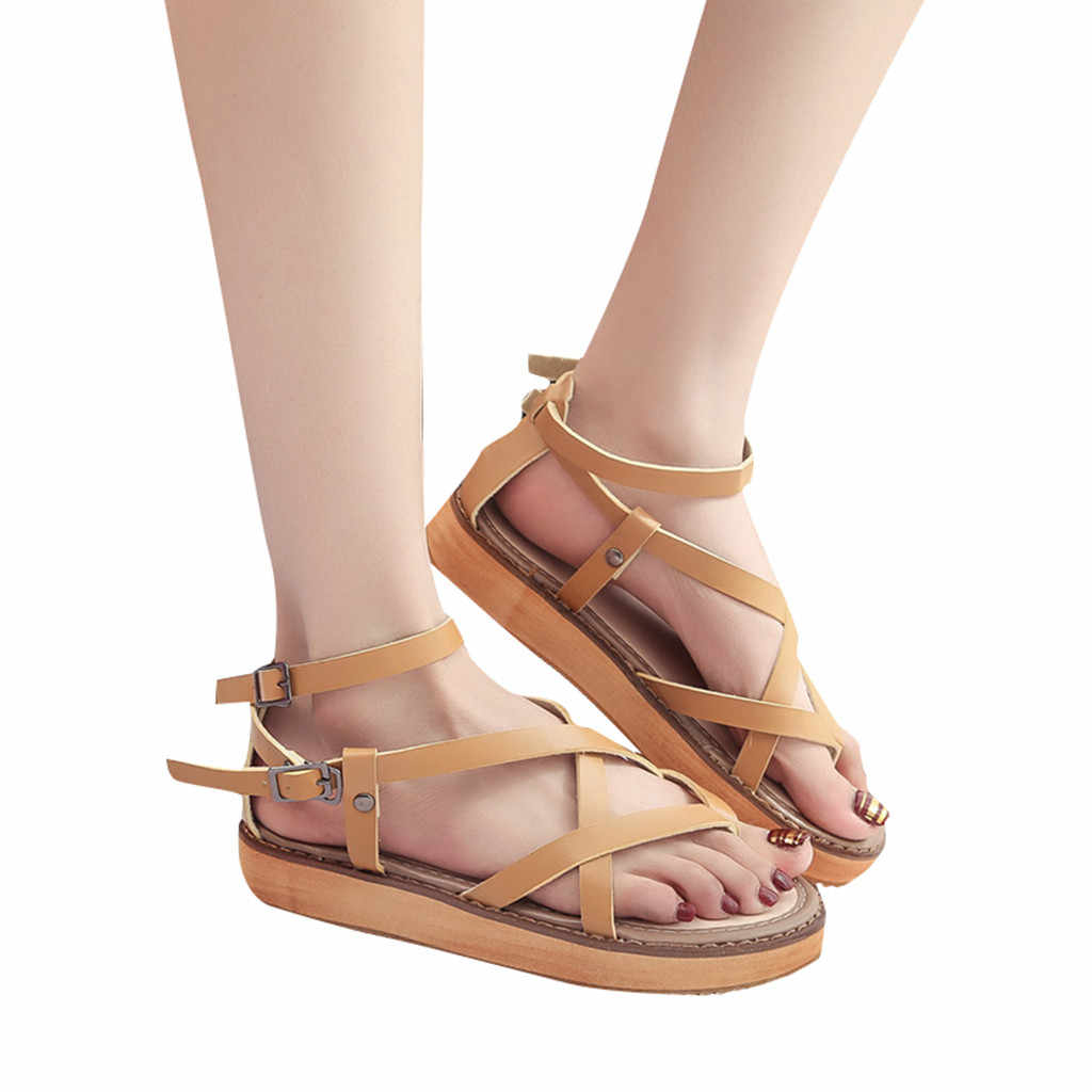 SAGACE Roman Sandals Women Platform Female Shoes Fashion Ladies Beach Bottom Sandal Casual Women Sandals Platform Women Shoes