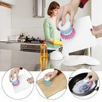 Accessoires de Cuisine nettoyage brosse Cuisine Gadgets Outils Cuisine Outils Accessoires créatif lavage liquide stockage tasse brosse