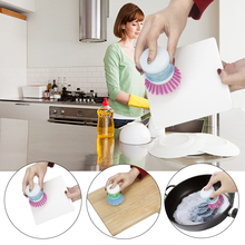 Kitchen Accessories Cleaning brush Gadgets Tools  Cuisine Outils Accessoires Creative Washing Liquid Storage Cup Brush