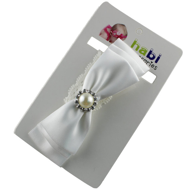 baby girl headband Infant hair accessories cloth pearl bows newborn Headwear tiara headwrap Gift Toddlers ribbon bandage band