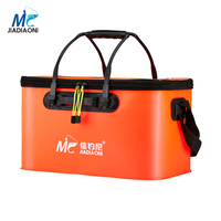 JIADIAONI Outdoor EVA Bucket Folding Barrel Portable Camping Hiking Buckets With Handle Fish Bags Fishing Accessories JDN016