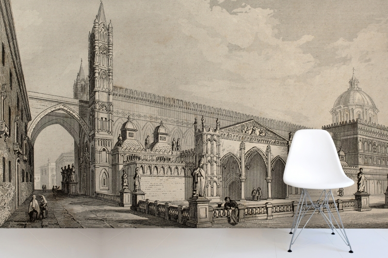 Historic wallpaper promotion shop for promotional historic for Colonial mural wallpaper
