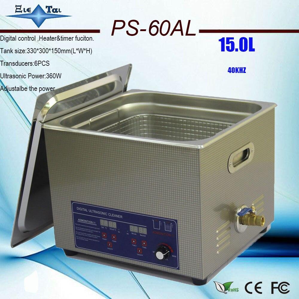 Hot verkoop 110 v/220 v PS 60ALadjustment power 150 360 w Ultrasone Reiniger 15L voor Reinigingsapparatuur Roestvrij staal Machine-in Ultrasone reinigers van Huishoudelijk Apparatuur op  Groep 1