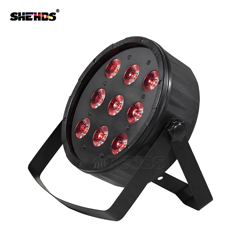 4pcs/lot LED Flat Par 9x12W RGBW/9x10W+30W RGB DMX512 Stage Effect Lighting For DJ Disco Party And Dance Floor Fast Shipping