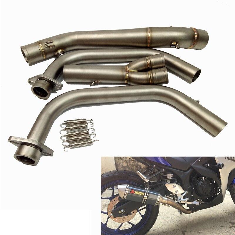 Mt-03 R3 r25 r30 2014 2015 мотоцикл полный Системы глушитель Ближний Середина трубы Нержавеющаясталь для Yamaha yzf-r3 r25 14 -16