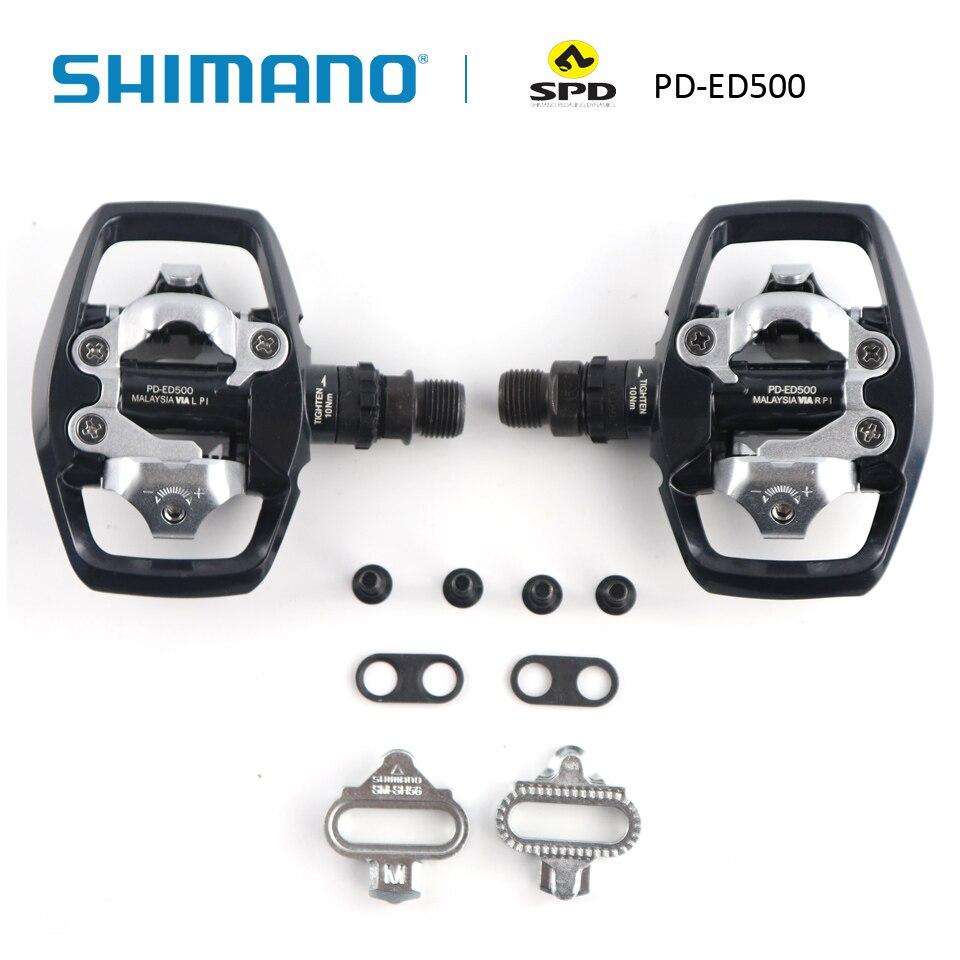 SHIMANO PD-ED500 SPD pédales de vélo de route et jeu de taquets de SM-SH56 (Mode de dégagement Multiple/paire) pièces de pédales de vélo de vélo