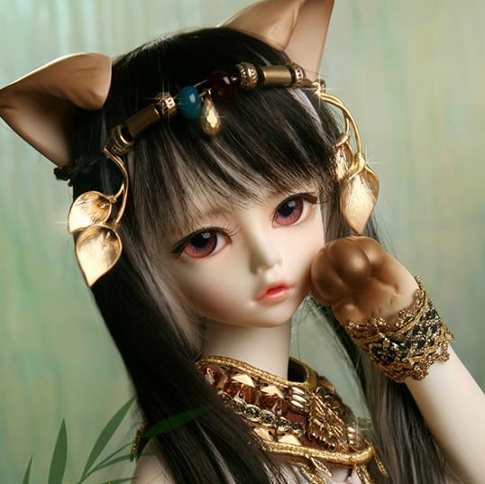 Free shipping!makeup and eyes included !top quality 1/4 bjd doll elf cat girl Kivi Soom Elves fancy Brinquedos Hobbies toy gift