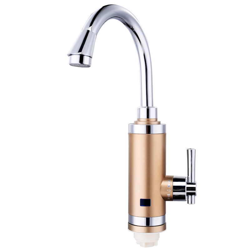 Hot Water Heater Tap Sicak Musluk Torneira Electric Kitchen Faucet Cold Mixer Crane With Led Lights Show And EU Plug S3DX-R