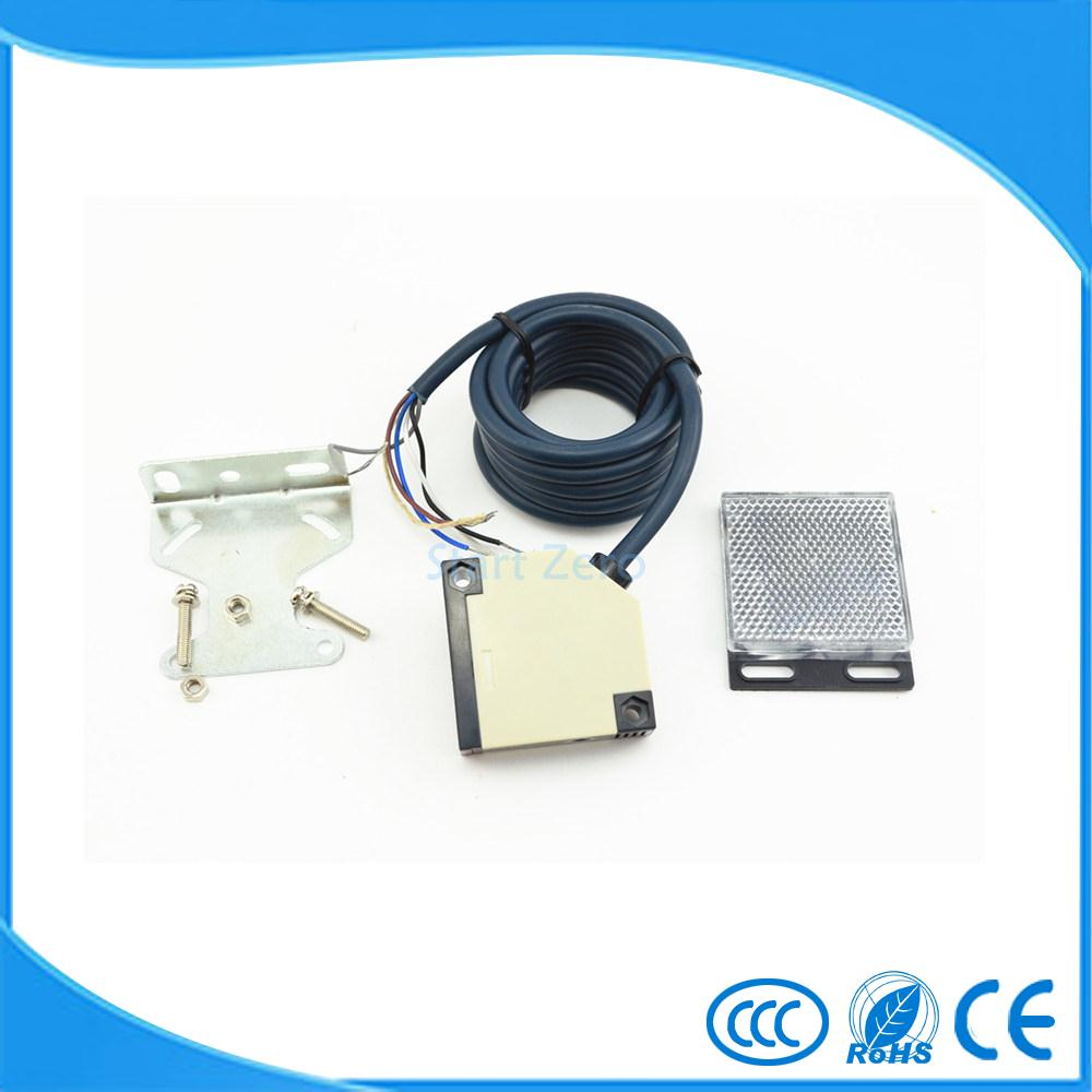 photoelectric switch 4M E3JK-R4M2 Retroreflective photoelectric sensor DC12-24V 18*50*50 photoelectric switch sensor square reflex light barrier sensor photoelectric switch ac 90 250v mayitr