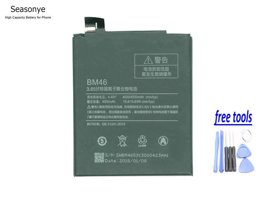 Phone Battery Bm47 Capacity 4000mah Replacement Battery For Xiaomi Redmi 3 3s 3x 4x 3 Pro Hongmi 3 S 4 X Suitable For Men And Women Of All Ages In All Seasons Cellphones & Telecommunications