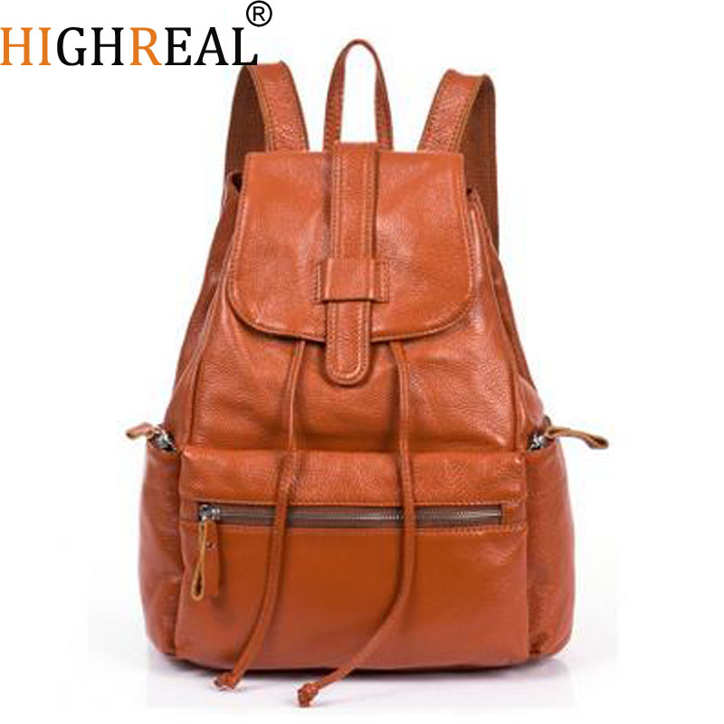 Women Backpacks Genuine Leather Brand Designer Cowhide Backpacks For Teenagers Girls School Bag Ladies Travel Bag Mochilas Black туфли marco tozzi marco tozzi ma143awagci2