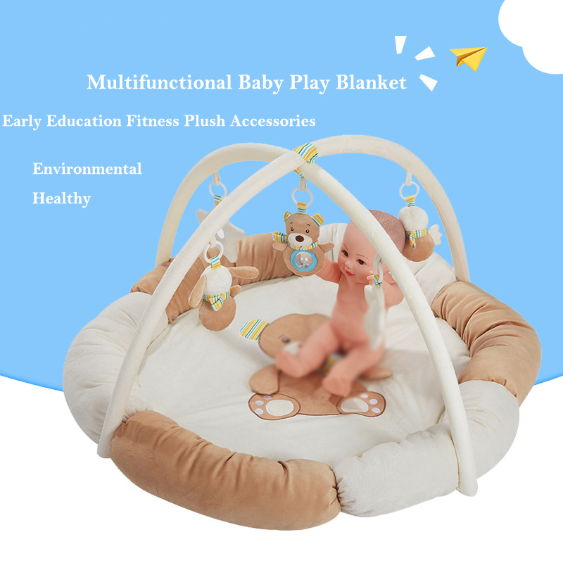 Baby Play Mat Activity Gym Round Soft Cartoon Educational Toy Newborn Carpet