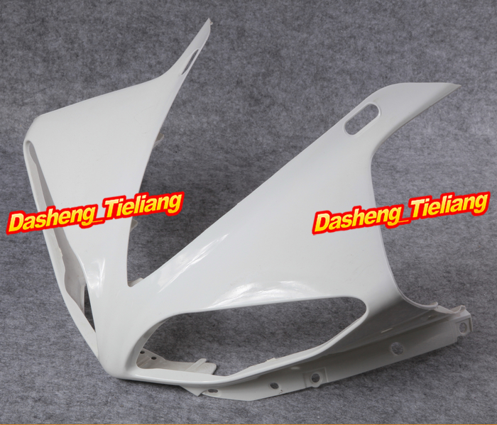 GZYF Upper Front Fairing Cowl Nose Fits for Yamaha 2009 2010 2011 2012 YZF R1 Injection Mold ABS Plastic upper front fairing bracket stay for 2009 2011 yamaha yzf r1 yzfr1 1000 09 10 11