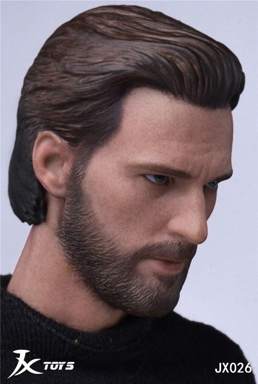 "JXTOYS-026 Chris Evan Captain America Head Sculpt 1//6 Male Head For 12/"" Hot Toys"
