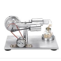 Children Mini Hot Air Stirling engine Motor Flash, Turn Model Educational Yes Toy Modern Kits 7 14 Years Old