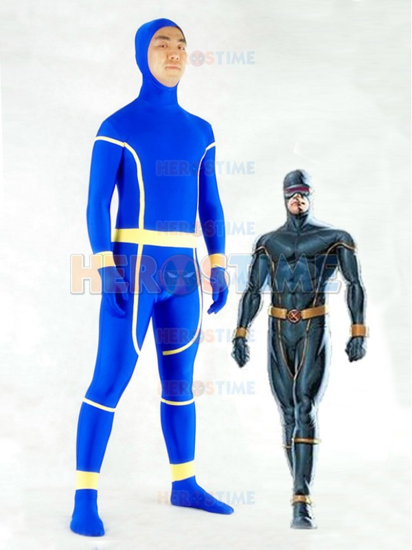 Classic X-Men Cyclops Costume halloween fullbody cosplay spandex adult  X-Men Superhero Costume show zentai suit