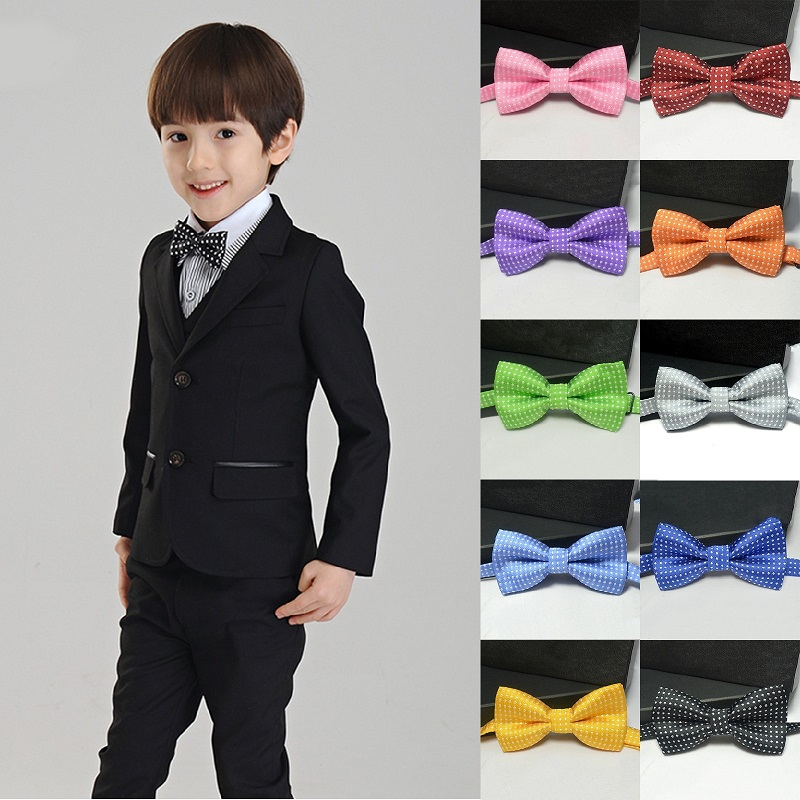 Hot Sale Casual Kids Collar Bow Tie Polka Dot Design Noble Tie Cute Handsome Jacquard Bow Tie Necktie in Childrens Accessories