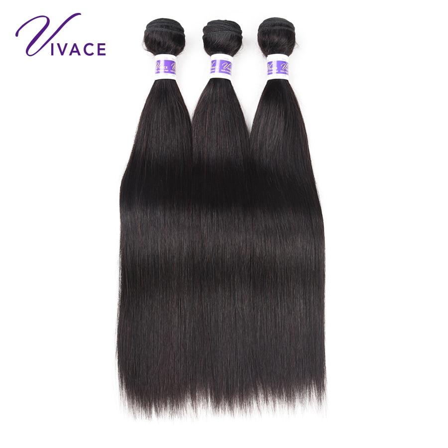 Vivace Hair Straight 3 Bundles Deal 10-28inch Μαλλιά - Ανθρώπινα μαλλιά (για μαύρο) - Φωτογραφία 2
