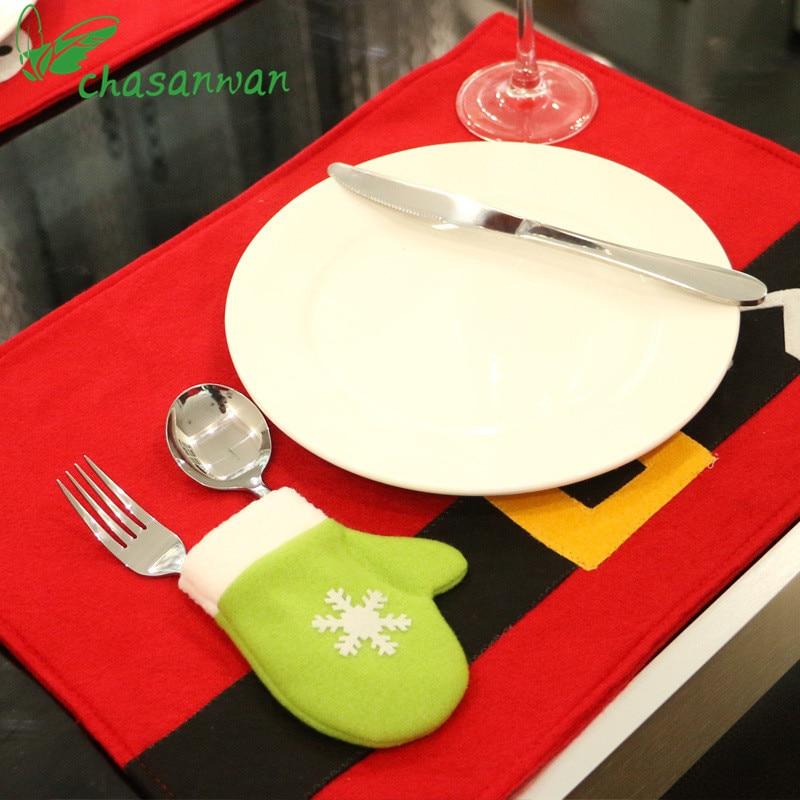 1 piezas decoraciones navideñas decoración del hogar manteles - Para fiestas y celebraciones - foto 3