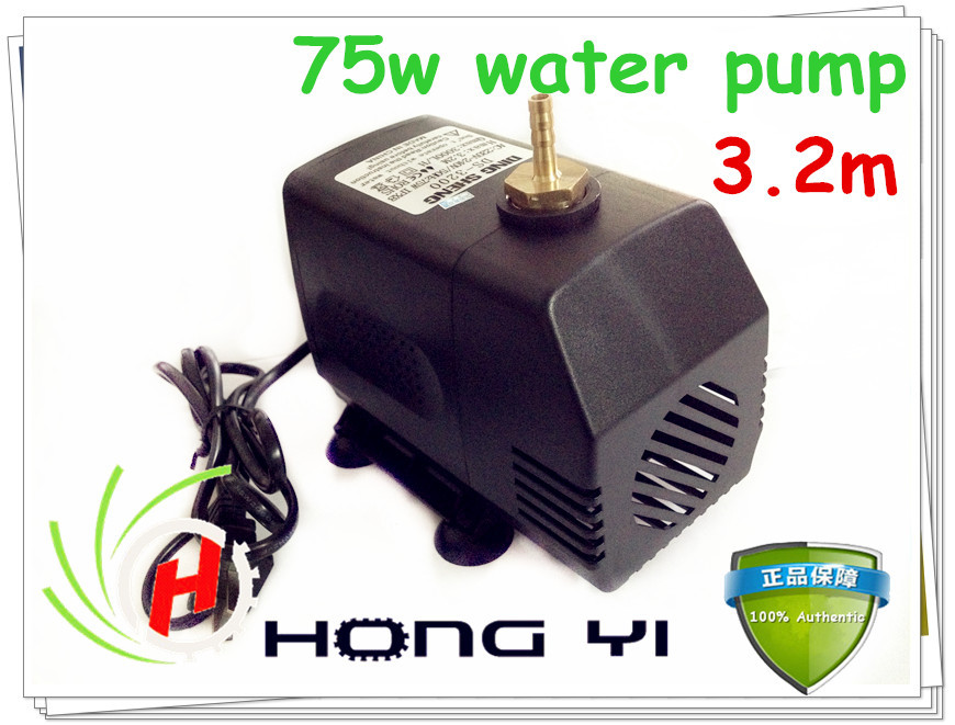 Free shipping engraving machine tool cooling 75w 3.2m water pump for cnc router 2.2kw spindle motor and 1.5kw spindle motor 220v 1 5kw spindle motor water cooling motor cnc spindle motor machine tool spindle