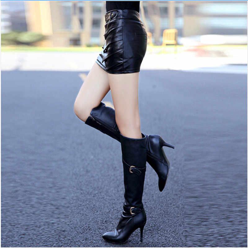 Дропшиппинг! Мини-юбка 2019 Весна-осень-зима женщин тонкий Искусственная кожа мори юбка хип faldas юбки в деловом стиле jupe