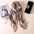 2017 fashion classic high-grade silk scarf women soft winter scarf luxury brand Shawl and Scarves Long pashmina cape
