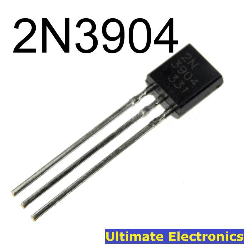 100pcs 2N3904 TO-92 NPN General Purpose Transistor ...