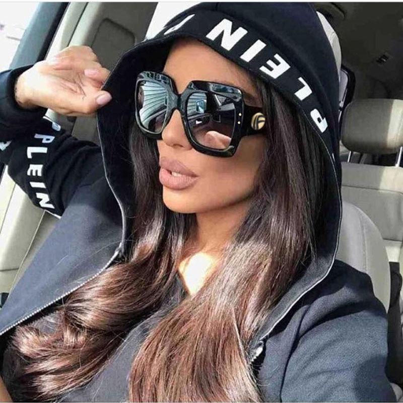 Ofir 2018 Newest Oversized Square Sunglasses Women Luxury