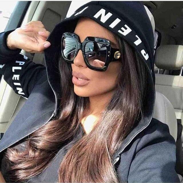 4725344d97 OFIR 2019 Newest Oversized Square Sunglasses Women Luxury Brand Designer  Red Green Sun Glasses Female Vintage Shades Eyewear