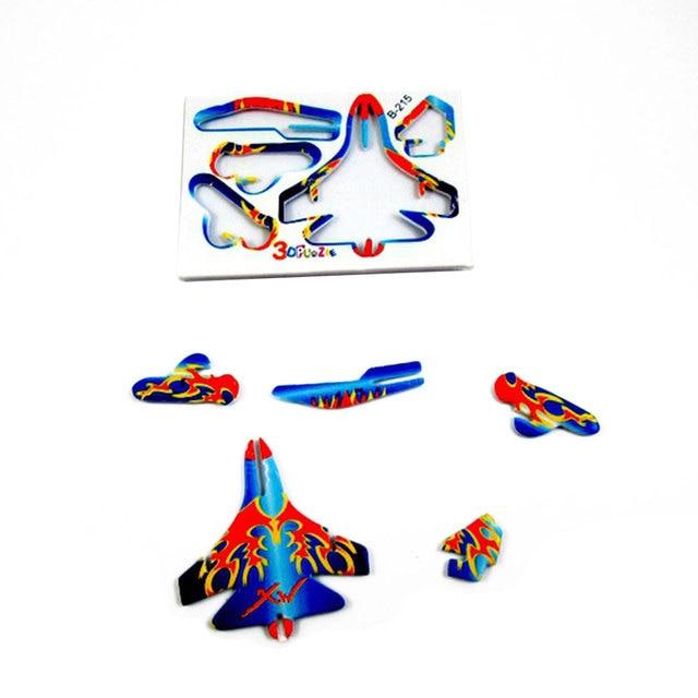 10pcs Montessori 3D Aircraft Models Cardboard Jigsaw Airplane Model Building Kids Toys for Children Funny DIY Toys Random Color 4