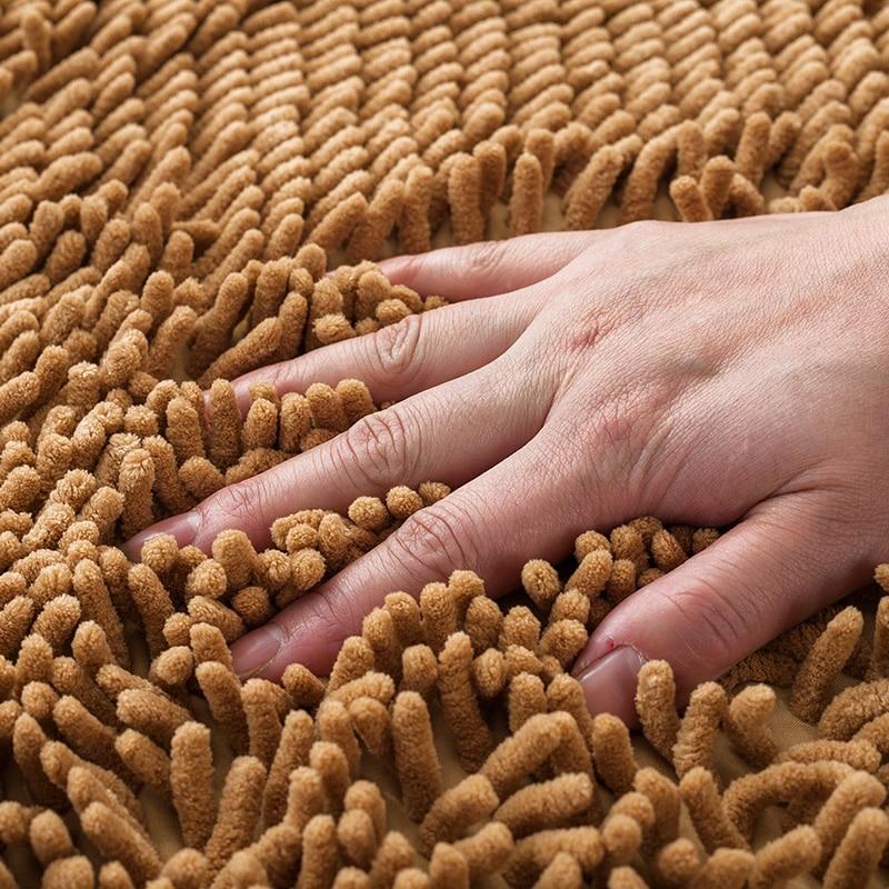 40x60cm/50x80cm Kitchen Floor Mat Chenille Carpet Rugs Absorption Kitchen Mat Red Doormat