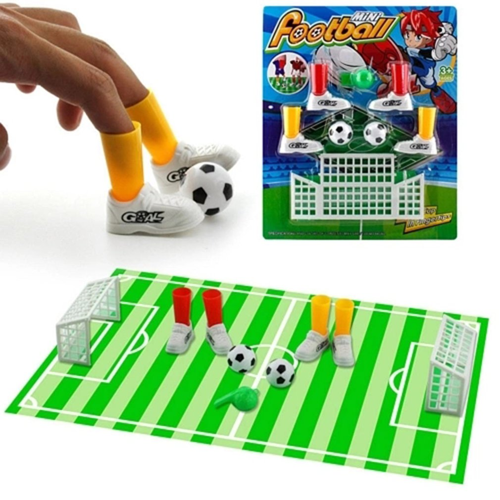 Mini Soccer Game Finger Toy Football Match Funny Table Game Set With Two Goals Interact Kids Parent Novelty Gag Toys(China)