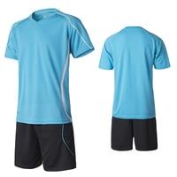Sports Survetement Football Kits 2017 Men Football Training Suit Breathable Soccer Jersey Set Blank Football Training