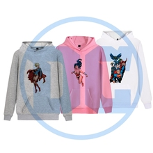 Justice League Superman Supergirl Batgirl cool Printed Illustration Trendy Harajuku Hoodie with Pocket Winter Junior Pullover