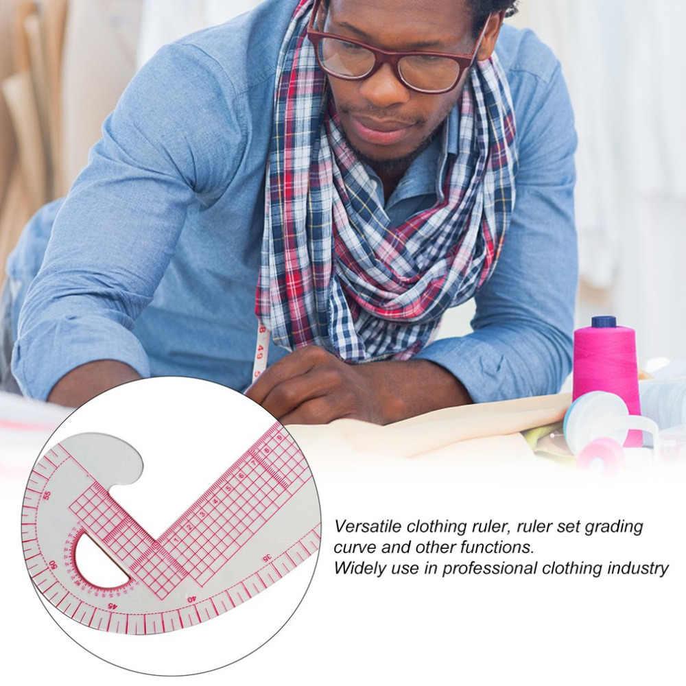 متعددة الوظائف 6501 البلاستيك الفرنسية منحنى الخياطة حاكم قياس خياط حاكم صنع الملابس 360 درجة الانحناء حاكم أدوات