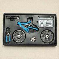 DIY Mini Bike Model Simulation Alloy Mountain/Road Bicycle Set Decoration Gift Model Toys For Childern Kids Boy Toy