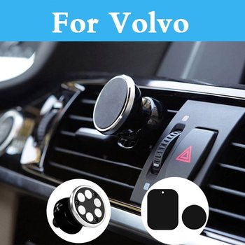 Car Phone Holder Air Vent Gps Mobile Phone Car Stand For Volvo V70 Xc60 Xc70 Xc90 C30 C70 S40 S60 S80 V40 V50 V60 Cross Country image