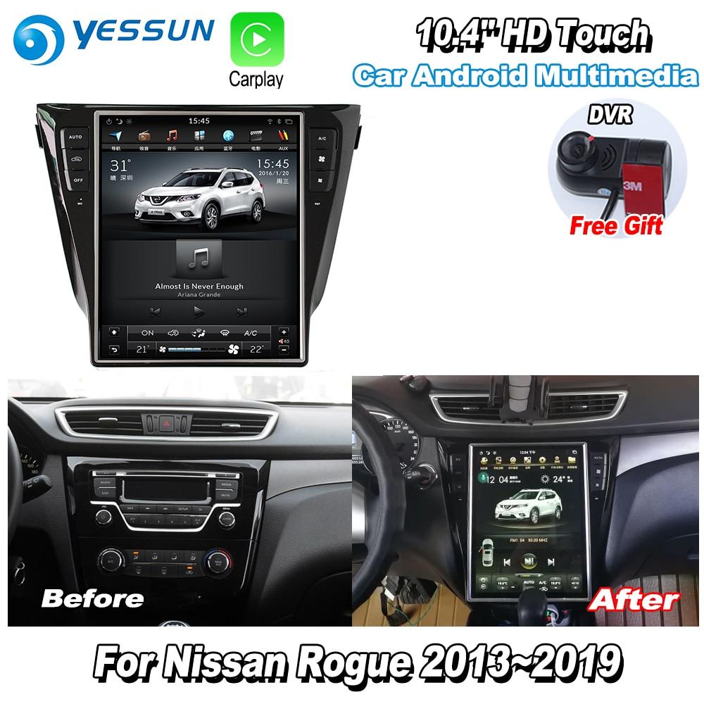 YESSUN 12.1'' HD Super Screen For Nissan Rogue 2013~2019 Car Radio Android Carplay GPS Navi maps Navigation Camera no CD DVD