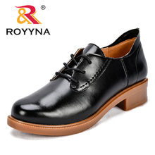 цена на ROYYNA New Arrival Fashion Style Women Pumps Microfiber Round Toe Female Dress Shoes Lace Up Lady Office Shoes Wedding Shoes