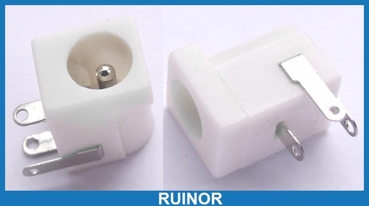 500pc White 5.5 x 2.1 mm DC Plug 2.1 mm DC Power Female PCB Socket 500pcs 3 5mm x 1 3mm dc socket jack female pcb charger power plug soldering