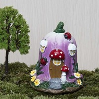 Big Mushroom House Fairy Garden Gnome Moss Terrarium home Decor For Resin Crafts Bonsai Garden Dollhouse Miniatures Figurine