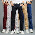 9 cores de verão outono de negócios de moda ou estilo casual calças dos homens calças retas magros casuais calças compridas homens moda multicolor