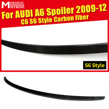 For Audi A6 A6a A6Q High-quality Carbon Fiber Rear Spoiler A6 C6 S6-Style Carbon Rear Spoiler Rear Trunk Wing car styling 09-12 стоимость