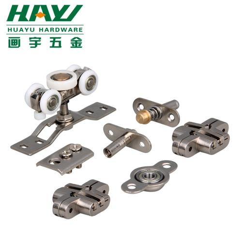 sliding door hardware parts folding door accessories round wooden ...