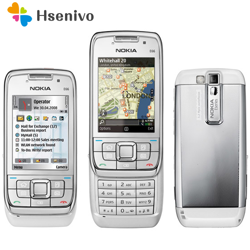 Refurbished E66 Original Unlocked Phone Nokia E66 GSM WCDMA WIFI Bluetooth 3 15MP Camera Cell Phones