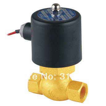 """Free Shipping 1/2"""" Inch Brass Hot Water Steam High Pressure Electric Solenoid Valve NC DC12V,DC24V,AC110V or AC220V"""