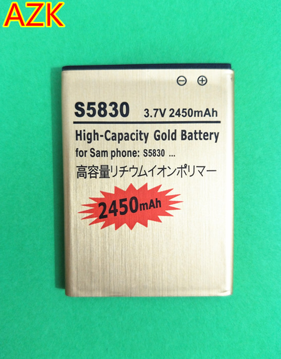 B-TAIHENG New Gold S5830 EB494358VU Battery for Samsung Galaxy Ace S5830 <font><b>S5660</b></font> S7250D S5670 i569 I579 <font><b>GT</b></font>-S6102 S6818 phone image