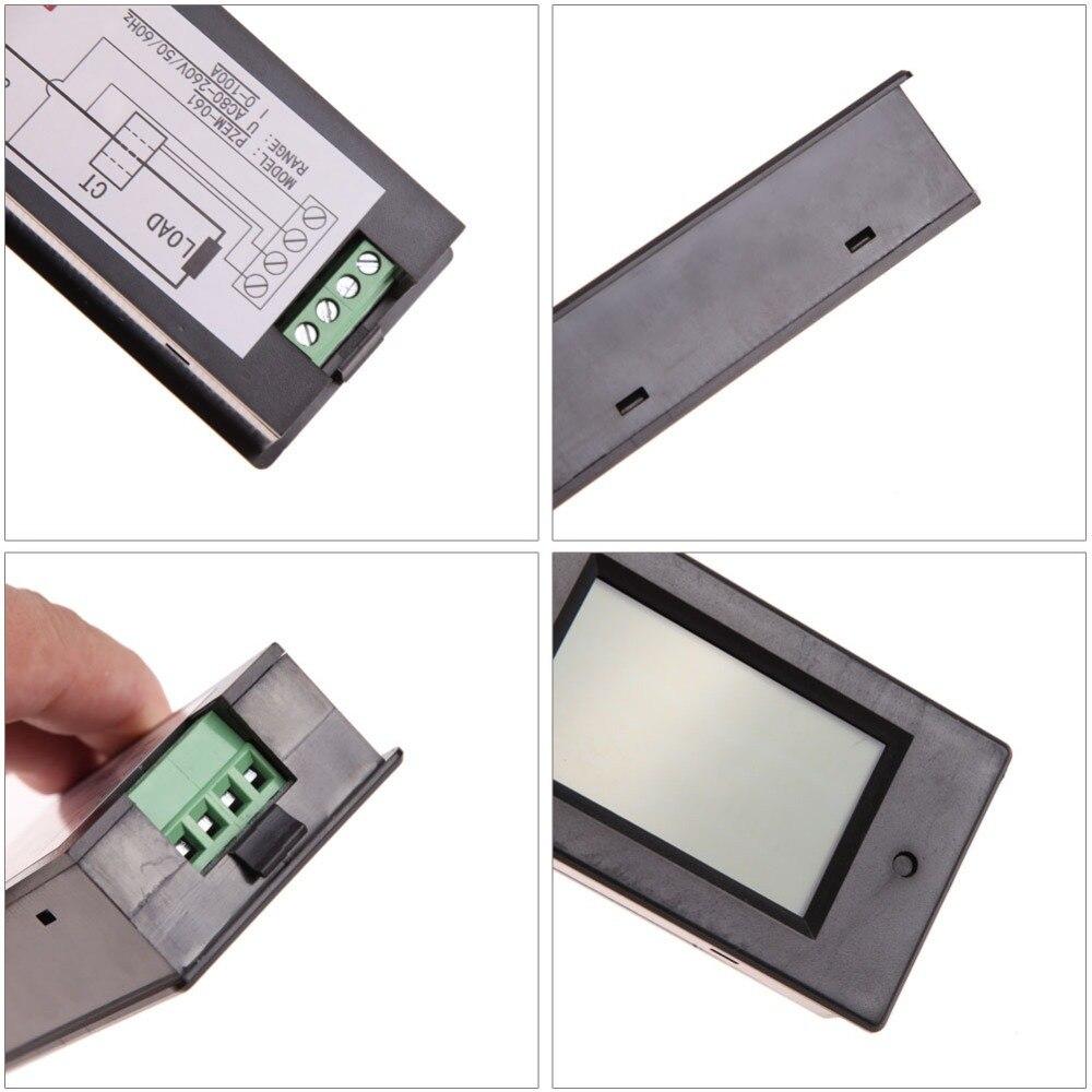 Digital AC Voltmeter Voltage Meters 100A/80~260V Power Energy ... for Analog Ammeter And Voltmeter  83fiz