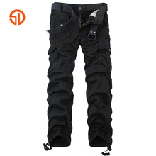 Brand Clothing Fashion Cotton Militar Tactical Cargo Pants 2018 Pleated Mens Sweatpants Pants Hiphop Joggers Long Trousers Man(China)