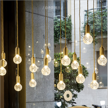 hot deal buy zyymodern minimalist led crystal engraved glass chandeliers nordic fashion cafe clothing store bar decoration chandeliers